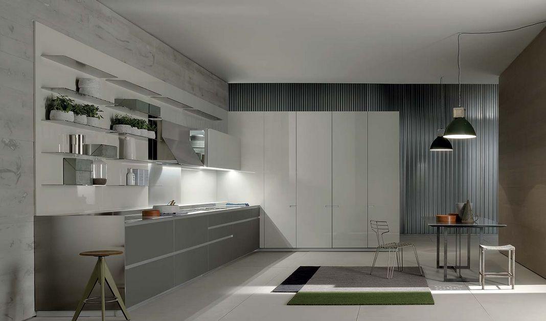 cucina one ernestomeda con elettrodomestici neff arredamenti ...