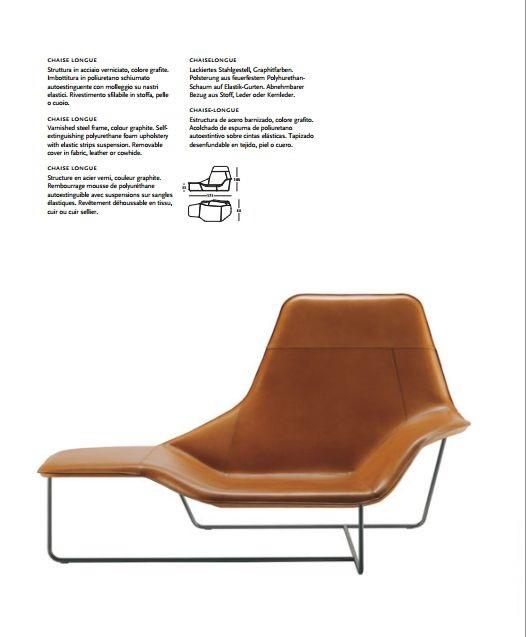 Zanotta chaise longue lama 921 mobili mariani for Chaise zanotta