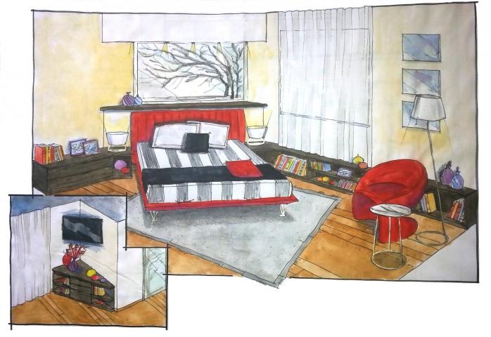 Progettazione camera matrimoniale con mobili lema e letto for Mobili camera letto matrimoniale