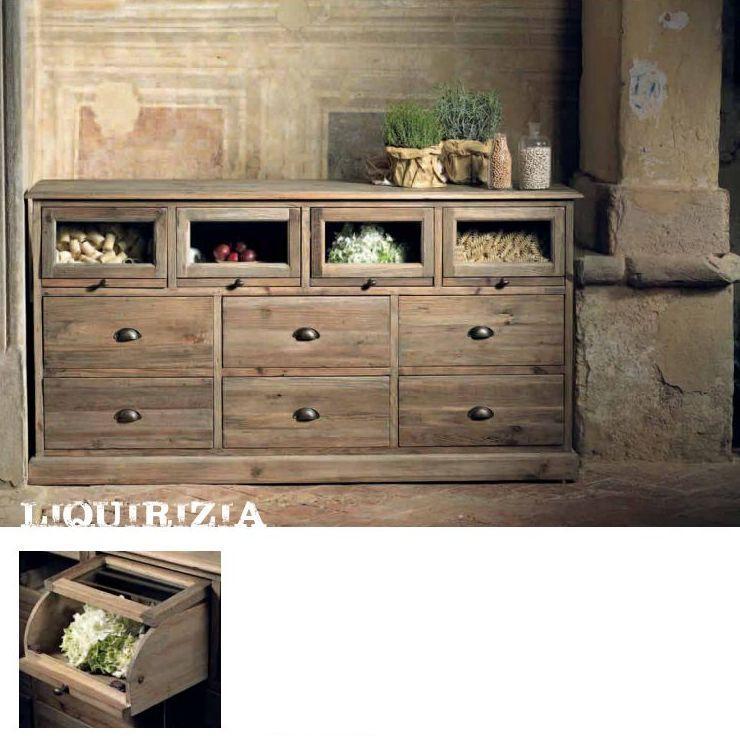 Old wood buffet liquirizia mobili mariani - Tasselli in legno per mobili ...