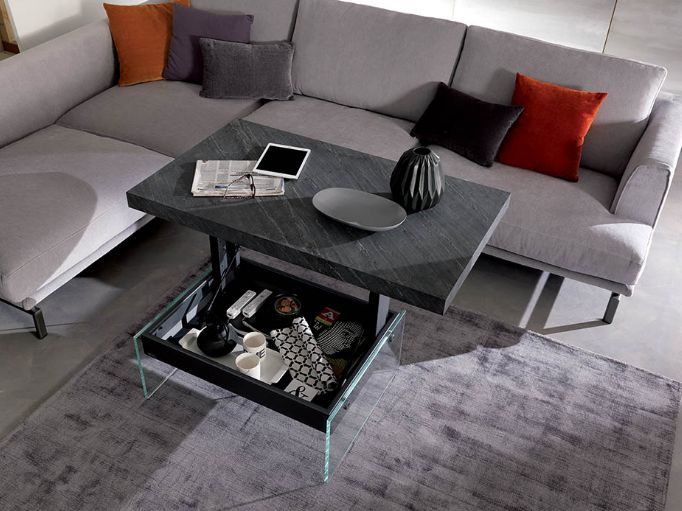 ozzio table basse rehaussable bellagio mobili mariani. Black Bedroom Furniture Sets. Home Design Ideas