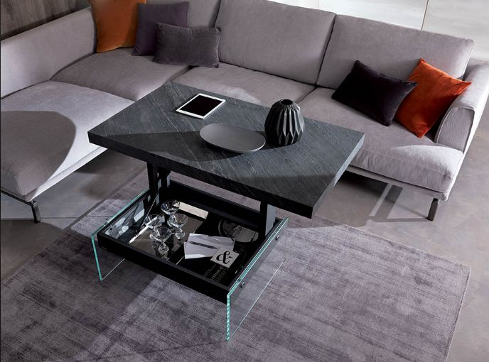 Ozzio table basse rehaussable bellagio mobili mariani - Table basse rehaussable ...