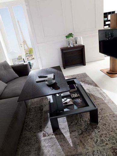 ozzio table basse rehaussable metrino mobili mariani. Black Bedroom Furniture Sets. Home Design Ideas