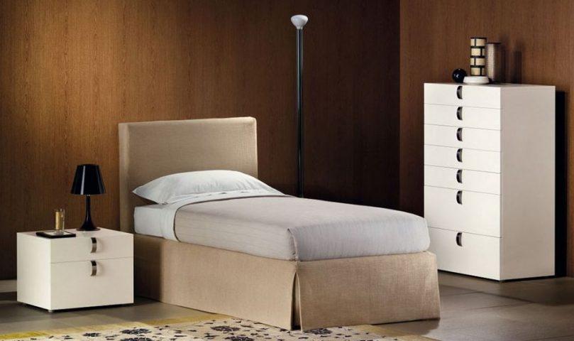 Flou letto singolo plaza mobili mariani - Letto singolo lunghezza 210 ...