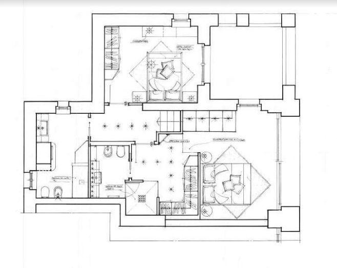 progetto struttura camera letto con soppalco zona lavoro   mobili ... - Progettazione Camera Da Letto