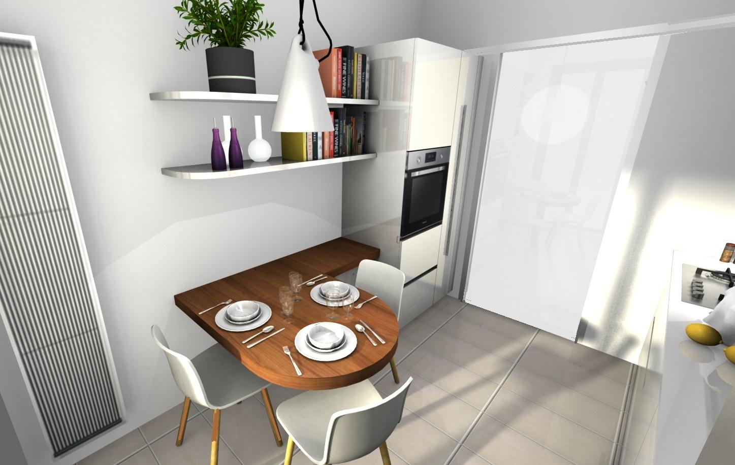 Progetto cucina ernestomeda one optical grigio with - Progetto bagno paderno ...