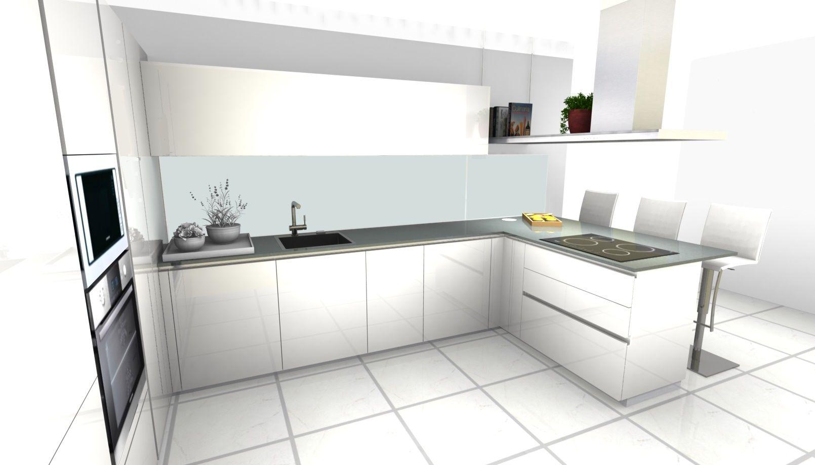 projet cuisine ernestomeda one80 brillant white moon | mobili mariani