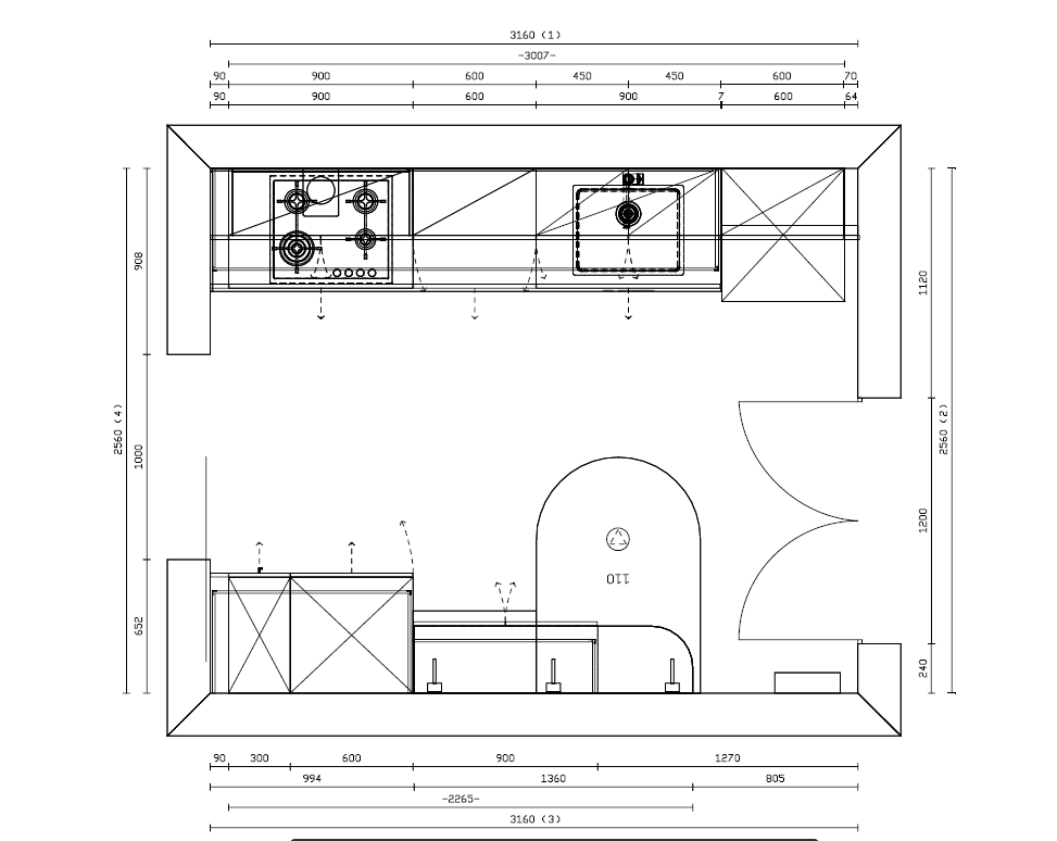 Progetto cucina ernestomeda one80 optical grigio mobili - Progetto di una cucina ...