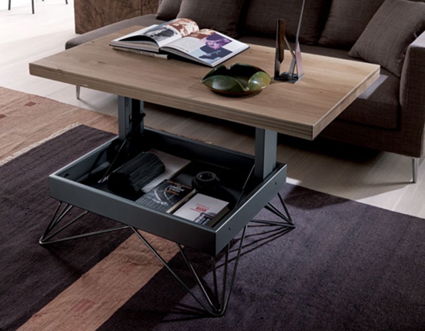 easyline table basse rehaussable ray mobili mariani. Black Bedroom Furniture Sets. Home Design Ideas